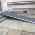 all souls college  accessible entrance to hall building  temporary ramp to door one (1)