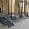 all souls college  chapel  ramp on north quad to passageway to alternative entrance (left)