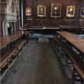 lincoln college – dining hall – interior (4:6) – ramp to high table