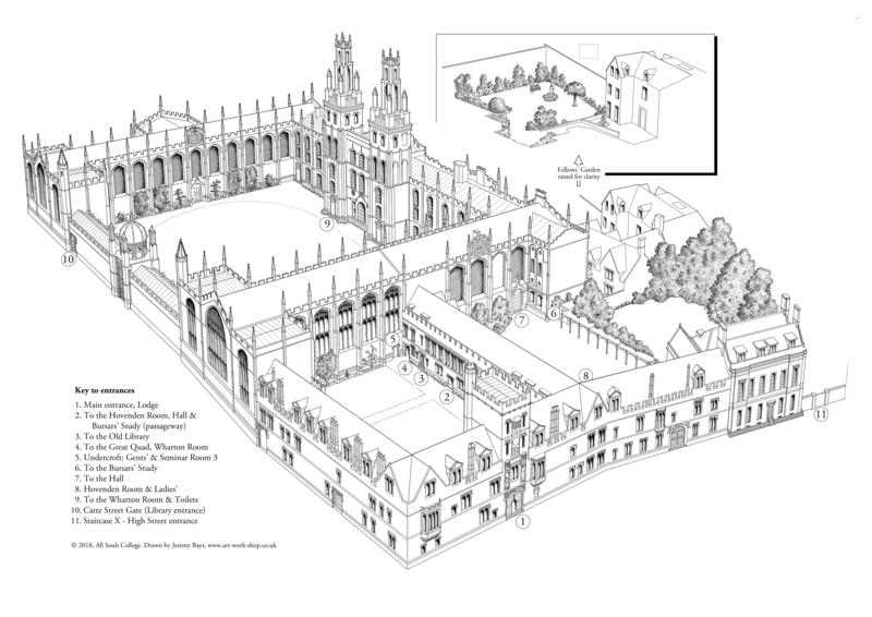 All Souls – Main College Map (3D)