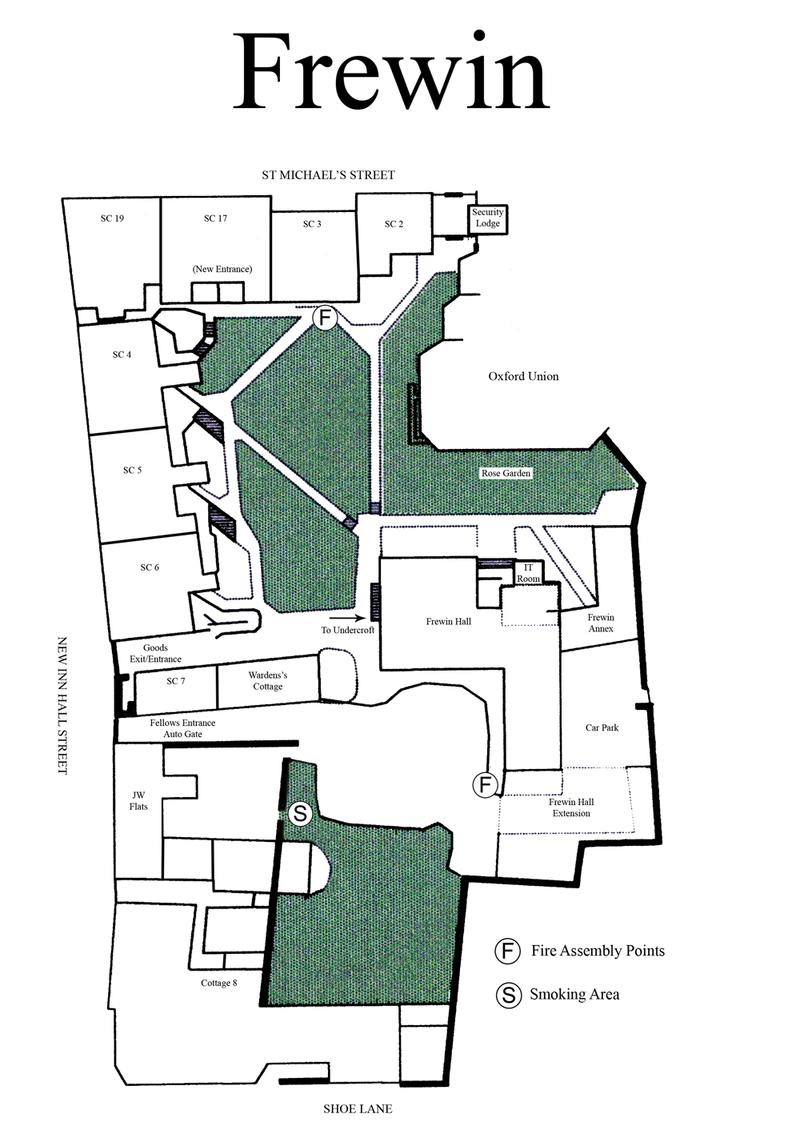 Brasenose College – Frewin Court – Floorplan