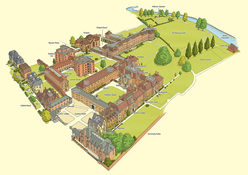 Lady Margaret Hall – Main Site (3D)