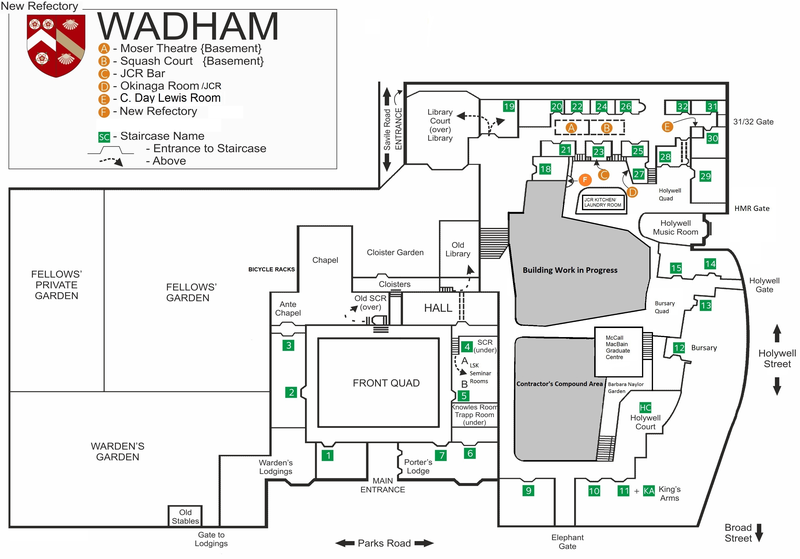 Wadham College – Main Site – Floorplan