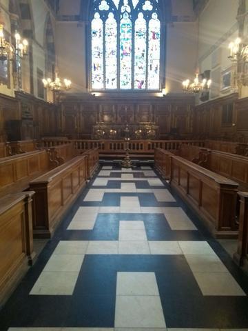 balliol college  chapel  interior space
