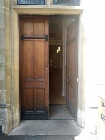 balliol college  dining hall  buttery entrance  door 1