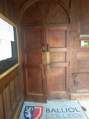 balliol college  dining hall  primary entrance  door 1