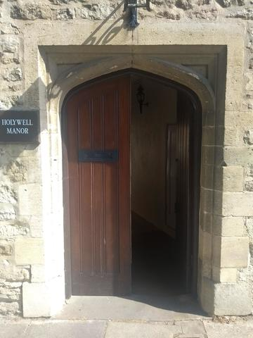 balliol college  holywell manor  door 1