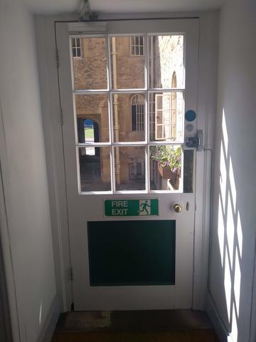 balliol college  holywell manor  door 3