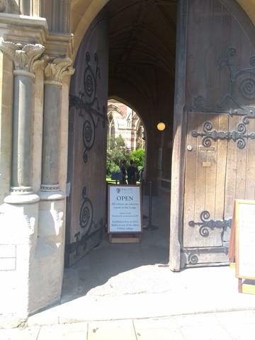 balliol college  lodge  broad street entrance  door 1