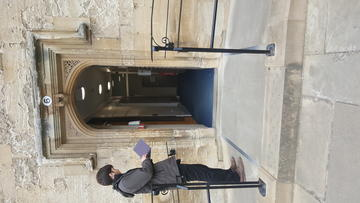 christ church  porter's lodge  wheelchair accessible entrance to lodge, raised doorframe  1:2