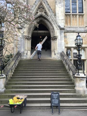 balliol college  dining hall  primary entrance  stairs