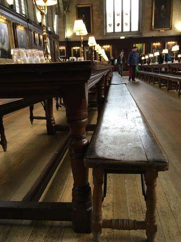 balliol college  dining hall  table height
