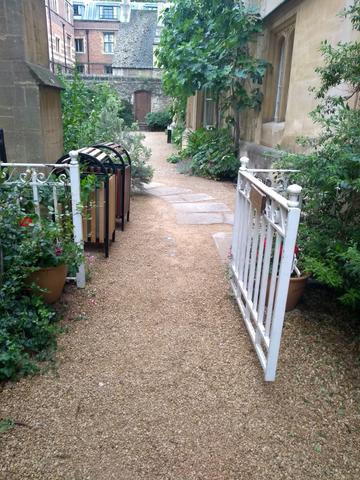 exeter college  rector s garden route  gate two