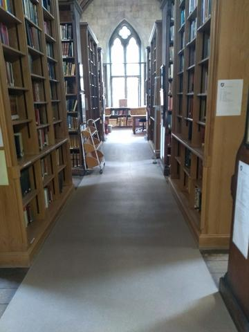 exeter college  library  2nd floor reading room interior space