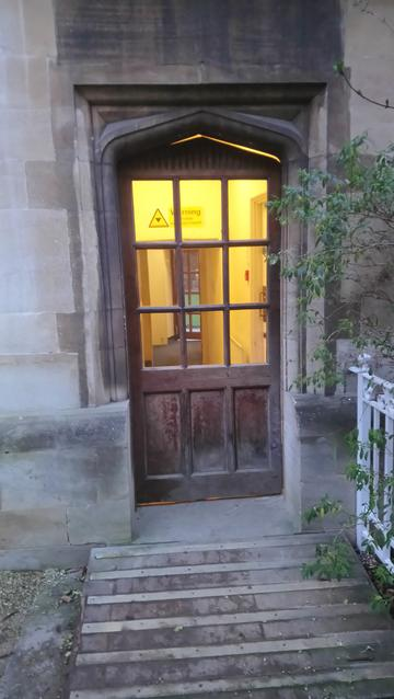 exeter college  staircase 5  door 2  exit to fellows garden