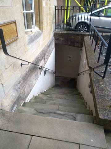 exeter college  stairs to crowther hunt basement