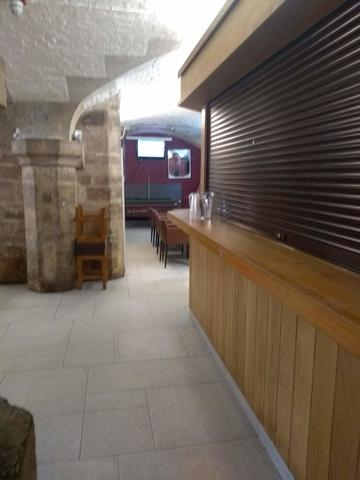 exeter college  bar  interior space