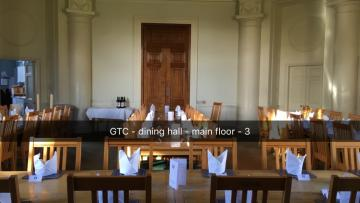green templeton college – hall – interior space (2:4) – main dining area viewed from high table