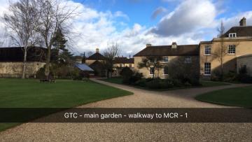 green templeton college – mcr – door (1:2) – gravel walkway to mcr