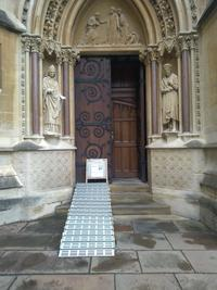 exeter college  chapel  door 1